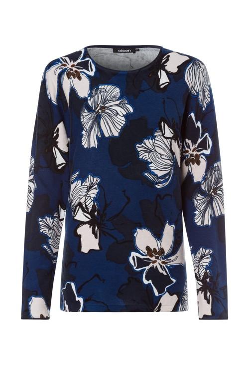 Olsen Flower Print Pullover