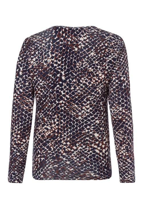 Olsen Snake Print Long-Sleeved Top