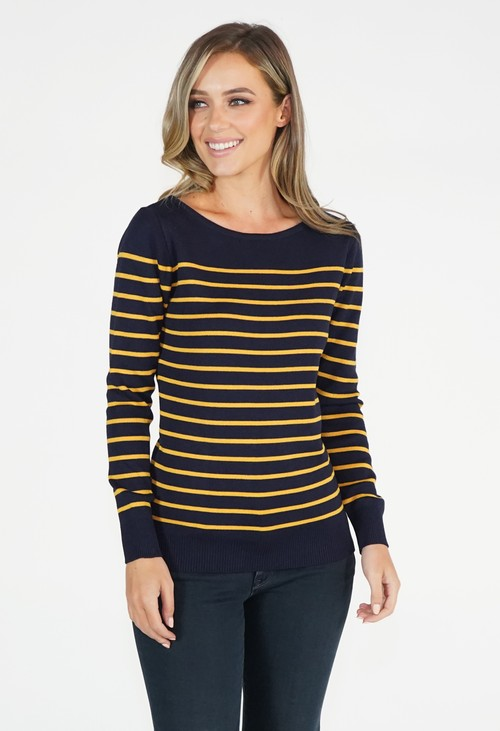 Twist Stripe Pullover Top