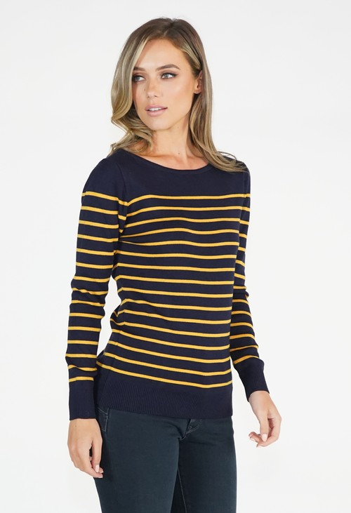 Twist Stripe Pullover Top