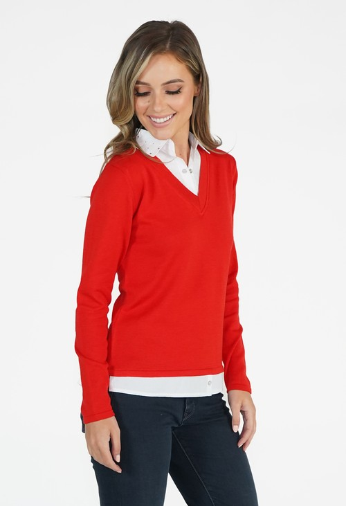 Twist Red 2 in 1 Pullover