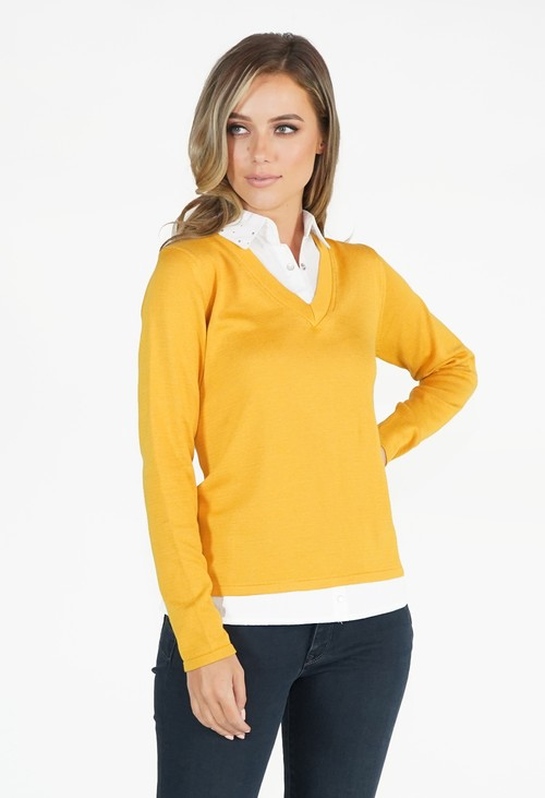 Twist Yellow 2 in 1 Pullover