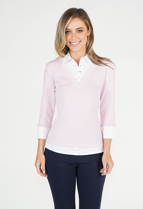 Twist Pink Sparkle 2 in 1 Pullover