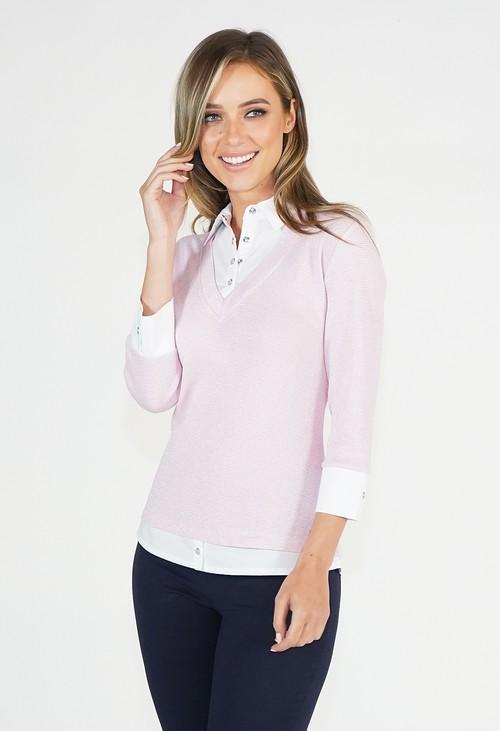 Twist Pink Sparkle 2 in 1 Pullover