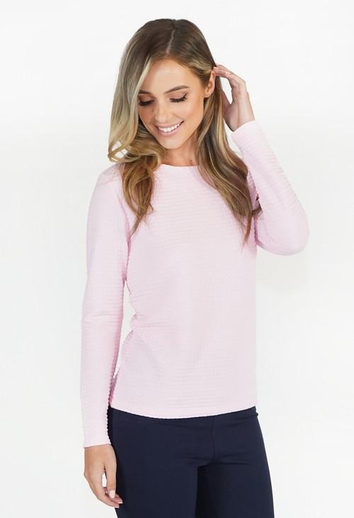 Twist Pink Textured Top