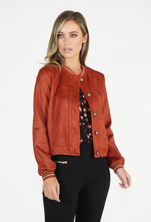 Sophie B Rust Bomber Jacket