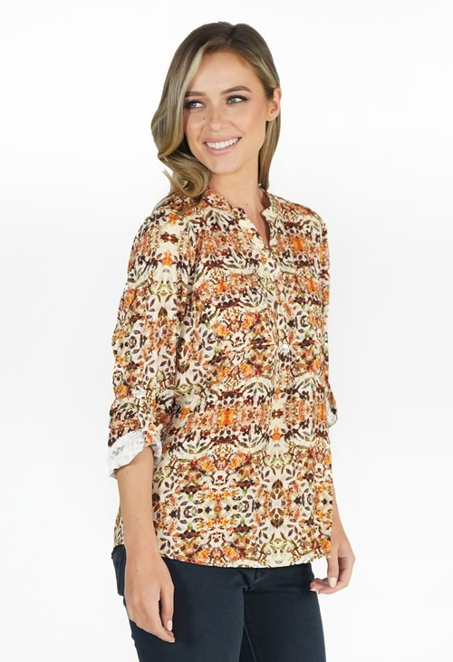 Twist Honey Floral Blouse
