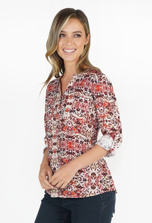 Twist Spice Floral Blouse