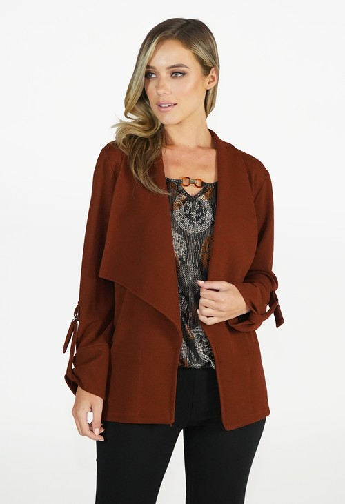 Sophie B Rust Open Jacket