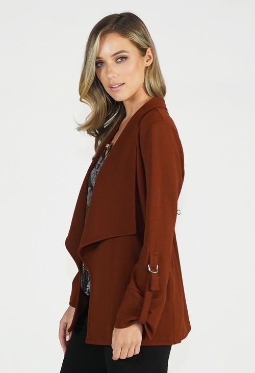 Sophie B Rust Open Jacket