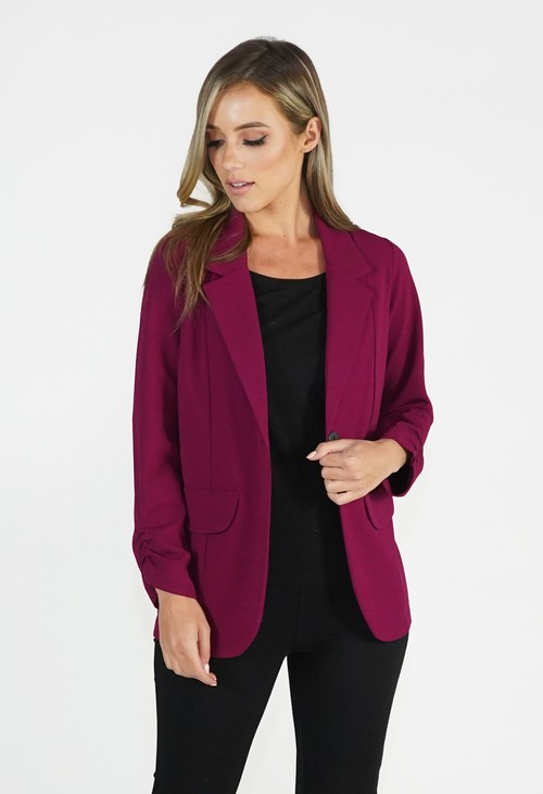 Zapara Bordeaux Open Jacket