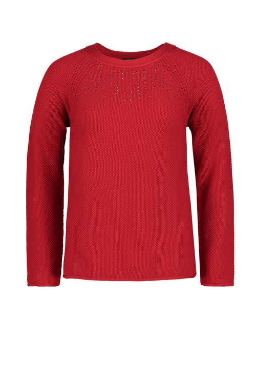 Betty Barclay Red Stud Detail Luxury Knit