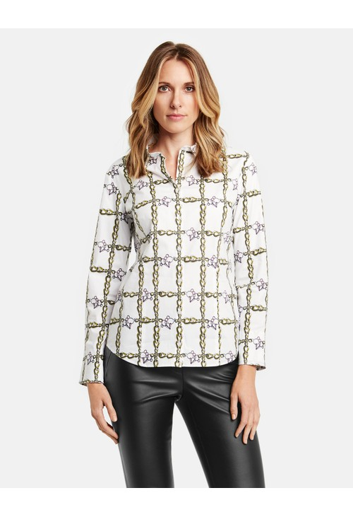 Gerry Weber Long Sleeve Blouse with a Chain Print