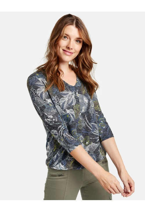 Gerry Weber 3/4-Sleeve top with a Burnt-out effect