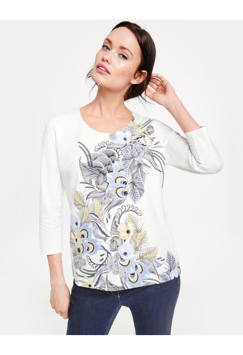 Gerry Weber 3/4-sleeve top in organic cotton