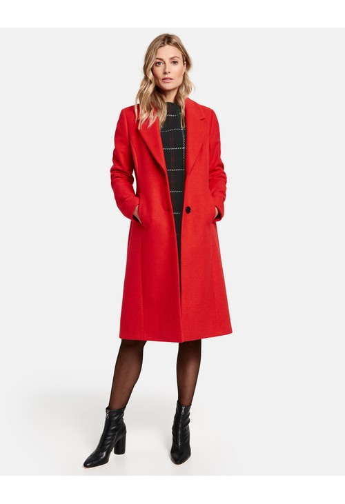 Gerry Weber Red Wool Coat