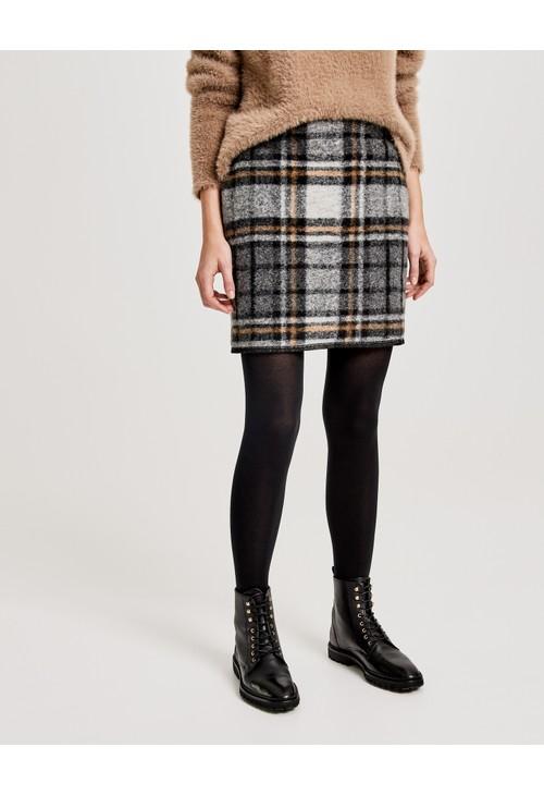 Opus Wollrock Ravenna wool check Skirt