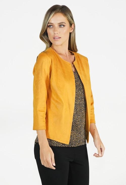Sophie B Mustard Crop Jacket