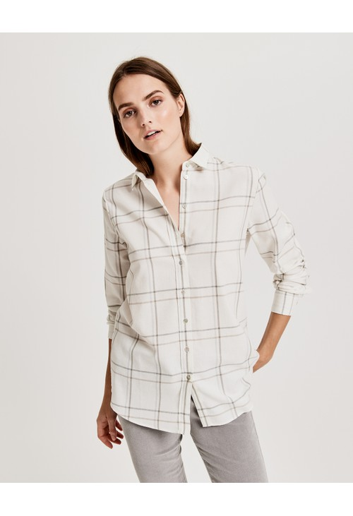 Opus Soft Cream Fabina Check shirt
