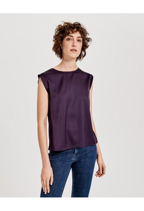 Opus Dark Violet Shirt blouse Fabiole