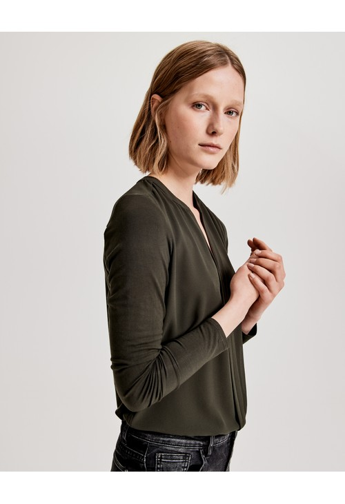 Opus Olive Green Blouse Fogat
