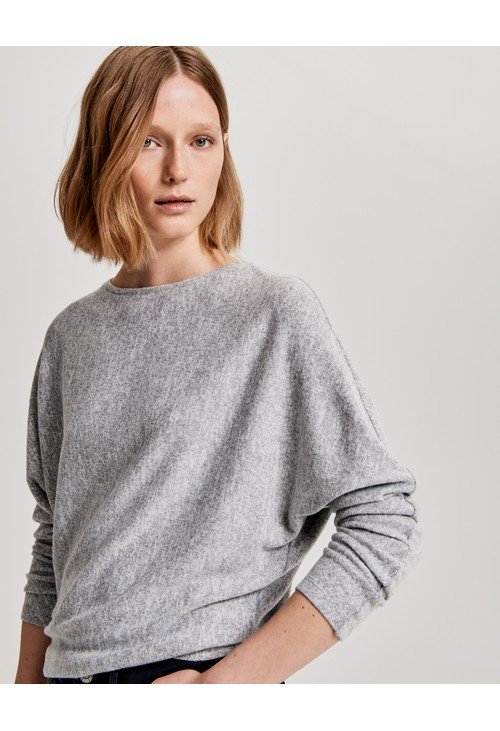 Opus Grey Oversized shirt Sevim