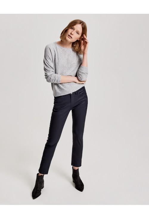 Opus Grey Oversized shirt Sevim