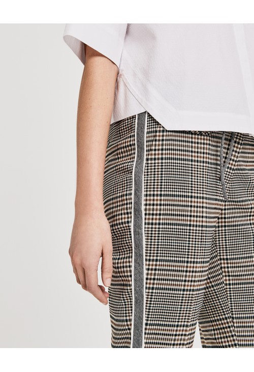 Opus sandshell Business trousers Moriel mixed check