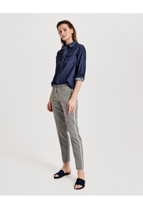 Opus Iron Grey Business trousers Moriel pepita