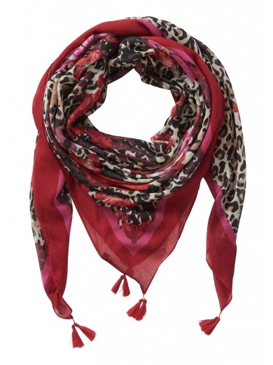 Betty Barclay Patterned Scarf with Tassels