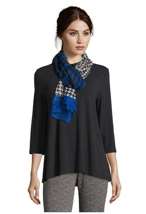 Betty Barclay Houndstooth and Animal Scarf