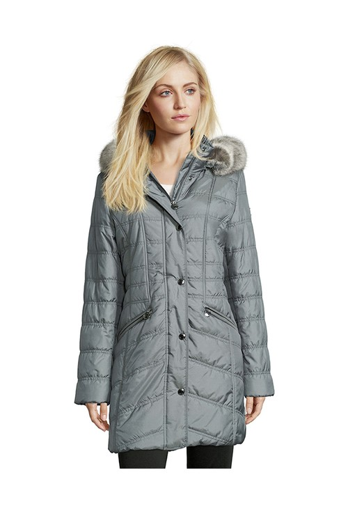 Betty Barclay Quilted Coat with Hood