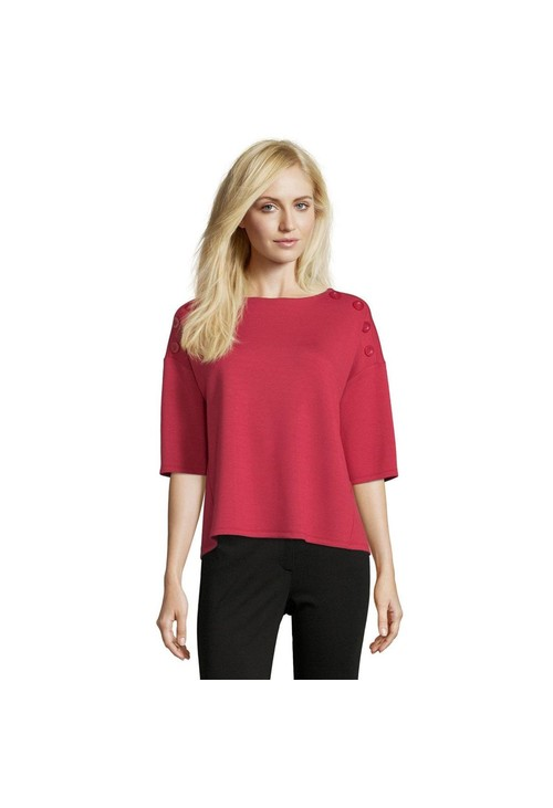 Betty Barclay Red Sweatshirt with Buttons