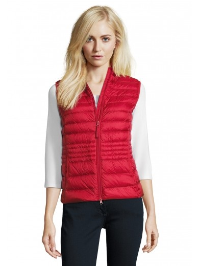 Betty Barclay Red Padded Gilet Coat