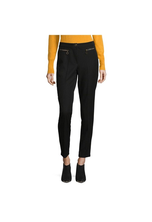 Betty Barclay Black Trouser With Zip Detail