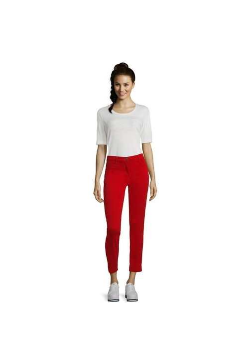 Betty Barclay Red Casual Trouser