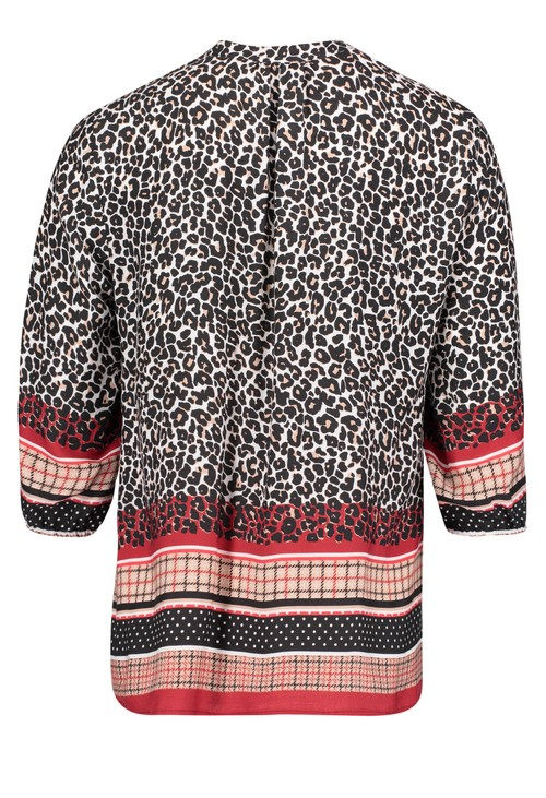 Betty Barclay Blouse with Leopard Print