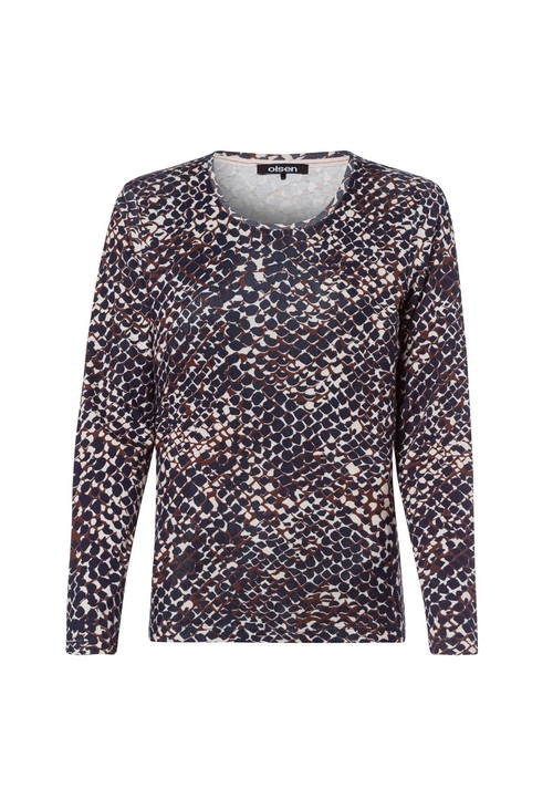 Olsen Snake Print Long-Sleeved Top