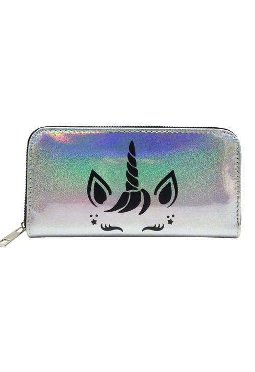 Pulse & Sparkle Holographic Unicorn Wallet