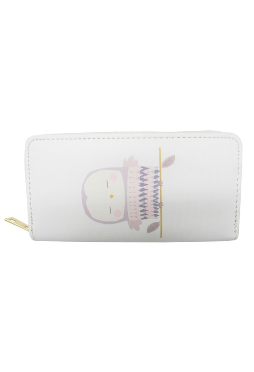 Pulse & Sparkle White Owl Wallet