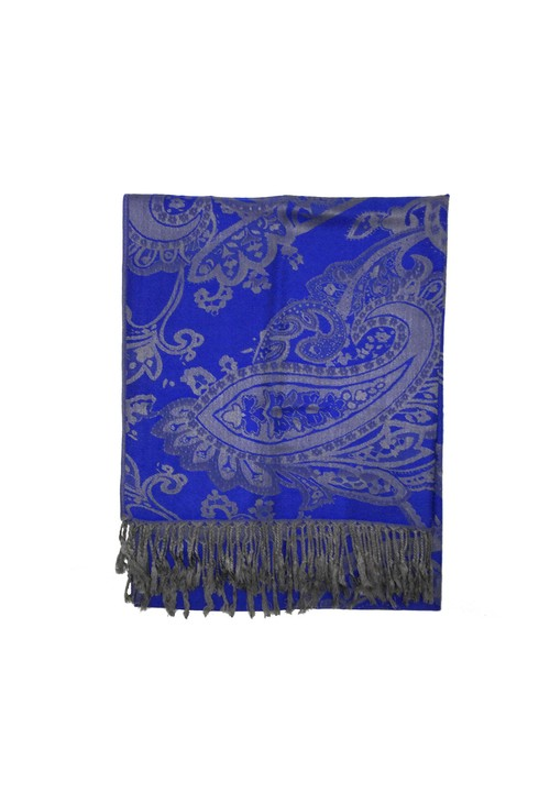Pulse & Sparkle Blue Printed Pashmina