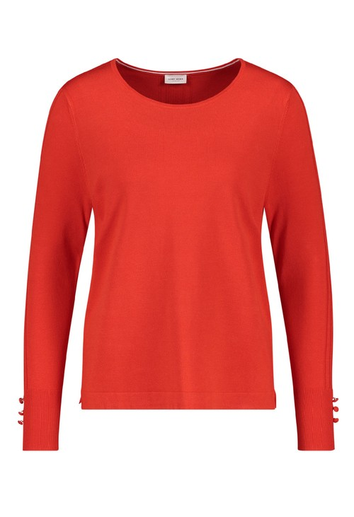 Gerry Weber Jumper With Sleeve Button Detail
