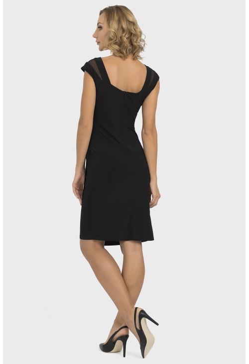 Joseph Ribkoff Sheer Trim Dress