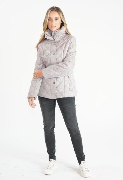 Pamela Scott Stone Quilted Jacket