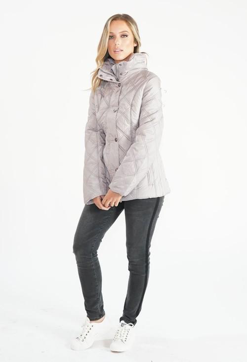 Pamela Scott Stone Quilted Jacket