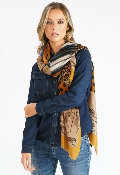 Pamela Scott Animal Print Scarf