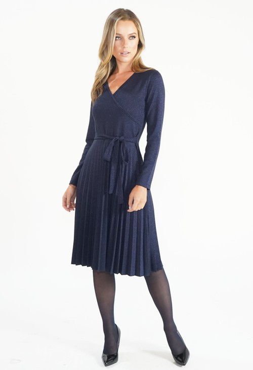 Twist Midnight Blue Crossover Dress
