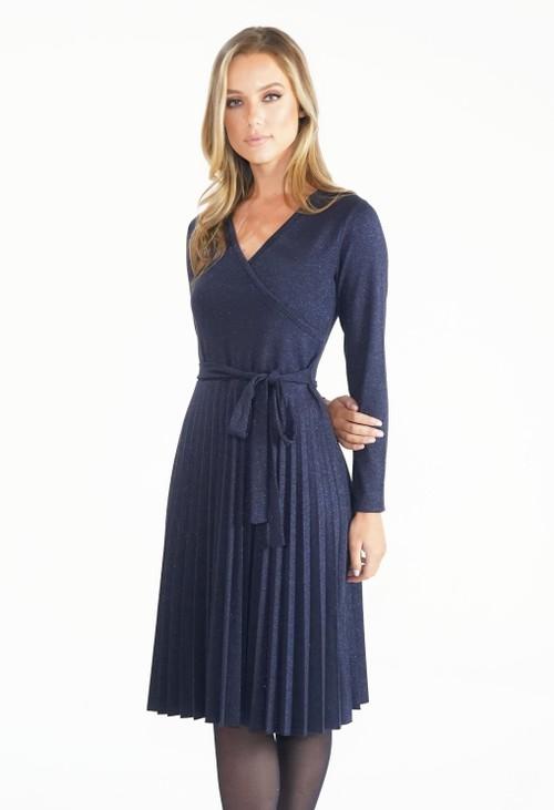 Twist Midnight Blue Crossover Dress