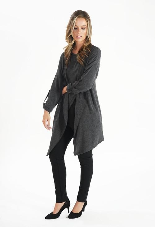 Sophie B Grey Crinkle Jacket