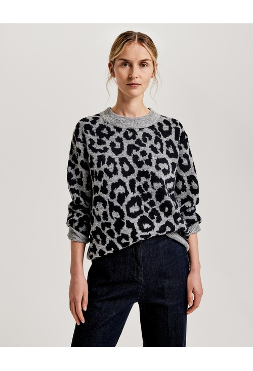 Opus Leopard Print Knit